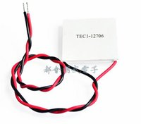 Wholesale tec1 peltier - Wholesale- TEC1-12706 12706 TEC Thermoelectric Cooler Peltier 12V New of semiconductor refrigeration TEC1-12706