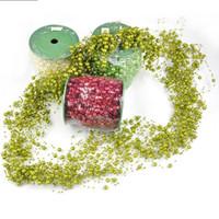 бисер для украшения строки оптовых-Пластиковые ABS бусины для изготовления ювелирных изделий леска Жемчужина бисера цепи строка гирлянда рождественские свадебные украшения ремесло высокое качество 19 5rz FB