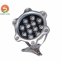 Wholesale Hot sale Underwater LED pool lights IP67 waterproof RGB W W W DC12 V fountain pool landscape lamp freely turn degree