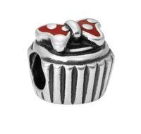 Wholesale Pandora Findings - Wholesal 30pc Mickey Cake Beads Charm Silver European Charms Bead Fit Pandora Bracelets Snake Chain Fashion European DIY Jewelry Finding