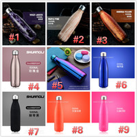 Wholesale Thermos Cup Sales - camouflage Cola Shape Water Bottles Vacuum stainless steel thermos cup Drinkware Kettle 500ml Support OEM 18 colors Hot Sale