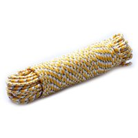 Wholesale Dark Tent - Wholesale- 4mm Glow in the Dark Camping Tent Rope Tent Accessories Yellow with White (20 Meters) Free Shipping