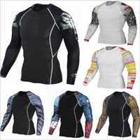 Wholesale Printed Body Skirt - Arms Athletic Quick Skincare Body Skirt Men's T-shirt Basketball Running Fitness Wear Stretch Training Compression Clothing
