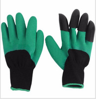 Wholesale Garden Genie Gloves With Claws Built In Claws OPP BAG easy way to Garden Digging Planting Gloves Waterproof Resistant To Thorns