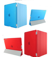 Wholesale Magnetic Front Smart Cover - For Ipad New Pro9.7 Case Flip Sleep Wake Smart Cover Magnetic PU Front Transparent Cases for Ipad 3 4 5 6 mini 1 2 3 4 Air 1 2 pro 9.7 new