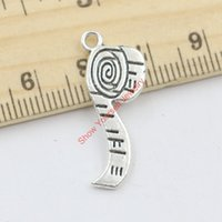 Wholesale Jewelry Make Scarf Pendants - Wholesale-20pcs Tibetan Silver Plated Zinc Alloy Scarf Charms Pendants for Jewelry Making DIY Handmade Craft 28x11mm