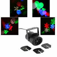 Wholesale Heart Shaped Snowflakes - Wall decoration laser lights 4 pattens card lamp led projector lights snowflake,heart-shaped candy shaped skull for Halloween decoration
