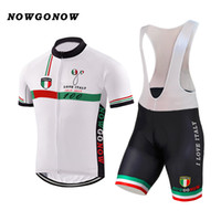 Wholesale Italy Bike - NEW Customized Hot 2017 JIASHUO White ITALY ITALIA mtb road RACING Team Bike Pro Cycling Jersey Sets Bib Shorts Clothing Breathing Air
