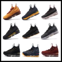 Wholesale Women Top Stars - LeBron 15 kids men women shoes cheap sales Top Quality LeBron James 15 Basketball shoes free shipping US4-US12