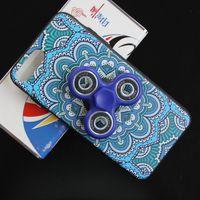 Wholesale Iphone Cases For Printing - Finger Hand Fidget Spinner Phone Case for iphone 7 6S 6 Plus S8 Plus 3D print Back Cover Phone case Capas Fundas