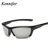 Wholesale Sunglasses Road Cycling Goggles - Kennifer Polarized Sports Sunglasses Men Sunglasses Road Cycling Glasses Mountain Bike Bicycle Riding Protection Goggles Eyewear With Box