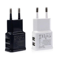 Wholesale china 5v charger for sale - Dual Ports USB AC Wall Charger V A EU Plug Power Adapter for Universal smartphone android mobile phone made in China