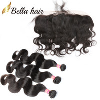 black to brown hair - Hairextensions Brazilian Human Hair Wefts with Lace Frontal Closure Ear to Ear Weaves Closure Body Wave A Bellahair