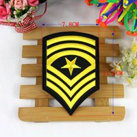 Wholesale Military Clothing Accessories - 10pcs Star Military Patch For Clothing Army Patches Motorcycle parches ropa Embroidered Fabric Patchwork Biker Badge Appliques Accessories