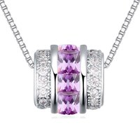 Wholesale Diamond Short Chain Necklace - CZ Diamond Necklaces Pendants Vintage Jewelry Made With Crystals from Swarovski Elements Short Necklace For Women 21631