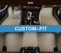 Wholesale Carpet Liner - Veeleo+ Custom Fit - 6 Colors Leather Car Foot Floor Mats for Audi S3 S5 S6 S7 S8 SQ5 Series Waterproof Anti-slip 3D Car Mats Carpets Liner