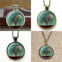 Wholesale Wholesale Shot Necklace - 10pcs Tree Shooting Star And Moon Jewelry Comet pendant Necklace keyring bookmark cufflink earring bracelet