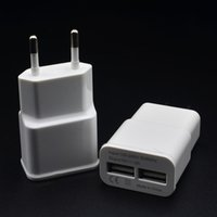 Wholesale Usb Ac Charger For Kindle - Free shipping 5V 2A Dual USb port US Ac travel wall charger plug adapter for blackberry htc sony kindle huawei nokia