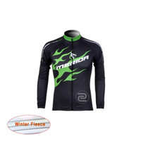Wholesale Merida Bike Clothing - Merida Pro Cycling Jersey Winter Thermal Fleece Ropa Ciclismo MTB Bike Clothing Maillot Sportwear Bicycle Clothes D0522