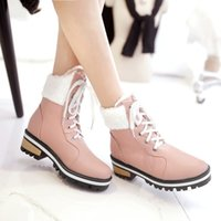 Wholesale Vintage Lace Up Beige Heels - Horse 2016 female british style vintage autumn and winter scrub lacing spring and autumn single boots round toe flat boots free shipping