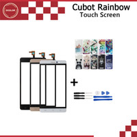Wholesale Digitizer Iphone Colorful - Wholesale- Original Cubot Rainbow Touch Panel Touch Screen Digitizer Glass High Quality For Cubot Rainbow +Tools+Colorful Painted Case