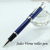 Wholesale Metal Ocean - Luxury MB Jules Verne Special Edition blue ocean rollerball pen Unique stationery office suppliers metal pens for writing