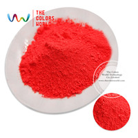Wholesale Fluorescent Paint Powder - Wholesale- TCFG-615 Light Red neon Colors Fluorescent Neon Pigment Powder for Nail Polish&Painting&Printing 1 lot= 10g 50g