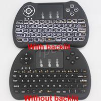 3d giroscopio mosca aire ratón al por mayor-Retroiluminación retroiluminada Retroiluminación Teclado H9 más Fly Air Mouse Control remoto multimedia Multi-Touch Touchpad para Android TV BOX 50 unidades