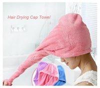 Wholesale Hair Drying Wrap Towel - Strong Water Absorbing Microfiber Dry Hair Towel Wrap Bathing Shower Cap