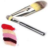 Wholesale Eyeshadow Logo - Brand Logo Makeup Brushes #190 Liquid Foundation Kyshadow Brushes MACollection Eye Face Eye Brush Eyeshadow Eyeliner Professional Makeup