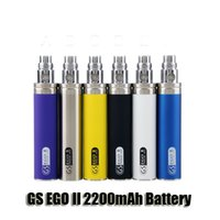 Wholesale Adjustable Ego Mini - eGo 2200mAh KGO ONE WEEK 2200 mah GS ego II ego-II battery for ce4 mini protank 3 Aerotank mega Turbo Nautilus mini atomizer