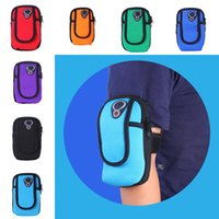 универсальный чехол для телефона оптовых-Универсальный водонепроницаемый спорта на открытом воздухе работает запястье сумка неопрена повязку мешок бумажник для 4-6 дюймов смартфон Sweatproof многофункциональный пакет