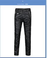 Wholesale City Motorcycles - Free shipping wholesale 2017 autumn and winter motorcycle men leather pants fashion city 6322 men trousers