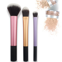 Wholesale Travel Case Handle - 2 in 1 case stand travel essentials 4pcs Makeup set professional make up brush pink soft handle synthetic bristles make up brushes