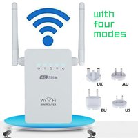 Wholesale Ac Band Router - Newest 750Mbps Wireless-AC Router AC750 Dual Band 2.4GHz 5GHz Wifi Repeater 802.11AC WPS AP Antenna US EU AU UK Plug