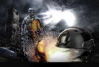 Wholesale Base Jumping - Crashworthy Protective Tactical Helmet for CS Airsoft Paintball Game 3 Colors CS Game Base Jump Helmet For Outdoor Activities +B