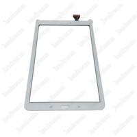 ingrosso 9.7 schermi del pc del ridurre in pani-20PCS Tablet PC Touch Screen Digitizer Lente in vetro con nastro per Samsung Galaxy Tab E T560 DHL libero