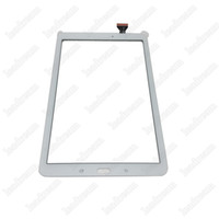 Wholesale Digitizer Tape - 20PCS Tablet PC Touch Screen Digitizer Glass Lens with Tape for Samsung Galaxy Tab E T560 free DHL