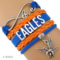 Infinity Love Eagles Charm Wrap Bracelet Blue Orange Suede Leather Bracelet Custom any Themes