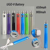 Wholesale Ego Passthrough Cable - UGO-V UGO-II V2 650 900 mah EVOD ego 510 Battery micro USB Passthrough Charge without USB Cable vaporizers UGO-T Battery