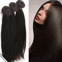 Moda Key Hot Selling pode ser Permed Cheap Long Hair Extensions Long Straight Cheap Synthetic Hair Extensions 3 Bundels Hair Weave SF297