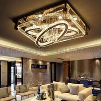 ingrosso luce soffitto a cristallo rettangolare-BE50 semplice moderno creativo rettangolare plafoniera LED ovale cristallo lampade soggiorno ristorante camera da letto hotel plafoniere illuminazione