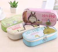 Wholesale Totoro Cosmetic Bag - Wholesale- 1Pcs Cute Totoro PU Pencil Bags & Case Cartoon Waterproof Cosmetic Bag & Storage Bag