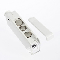Wholesale New Handheld Mini X X Zoom LENS LED Lighted Pocket Microscope Magnifier Loupe
