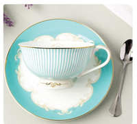 Wholesale Tea Set Suit - 3 Sets Of English Bone China Tea Coffee Cup And Saucer Suit European And American Style