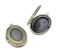 Wholesale picture lockets - DoreenBeads Antique Bronze Picture  Photo Oval Locket Frame Pendants 34x24mm,1 pc