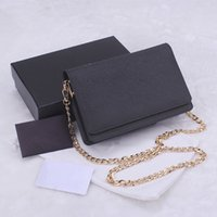 Wholesale Classic Design Handbag - Luxury classic women's handbags 2016 fashion design cross pattern cowhide leather chain bags samll wallet 7 colors 1318