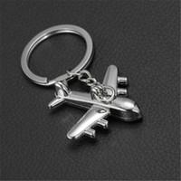 neues mini flugzeug großhandel-Zinklegierung Schlüsselanhänger Halter New Plane Keychain Mini Plane Modell Schlüsselanhänger für Männer Schlüsselhalter Schlüsselanhänger Charms Flugzeug Schlüsselring Weihnachten