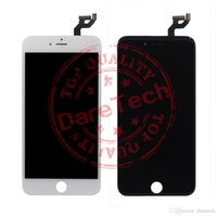 Wholesale Topping Display - Best AAA quality Lcd Display replacement for iphone 6s plus screen white & black digitizer assembly repair parts color Top Quality free ship