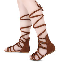 Sexy Cross Straps Design Zipper Ladies Gladiator Sandales Sandales plates pour dames Open Toe Low Heels Femmes Beach Sandals Flip Flops Chaussures + B